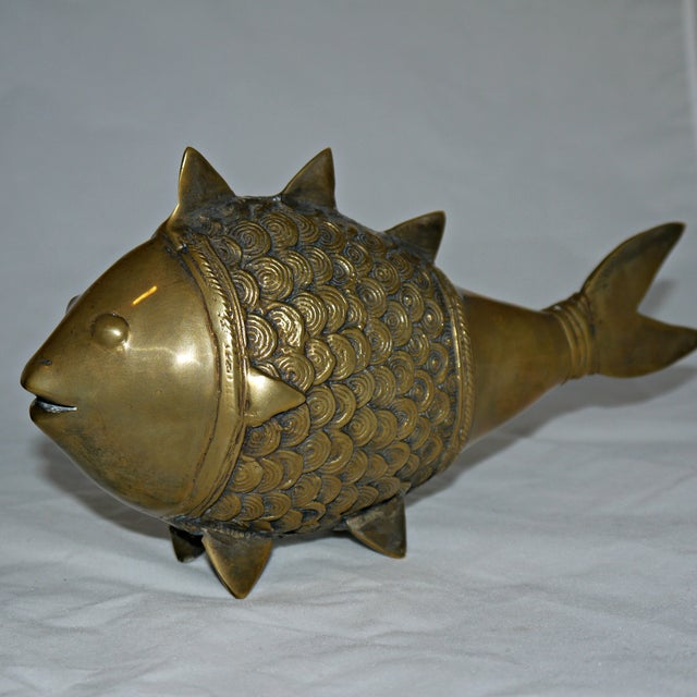 Brass Dokra Indian Fish - A Pair - Image 3 of 8