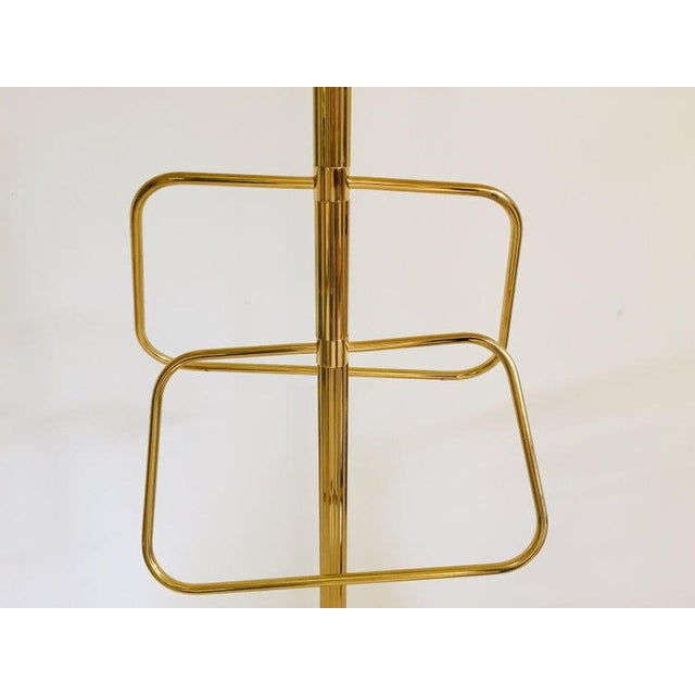 Italian Polished Brass Valet Stand, 1970 For Sale - Image 12 of 13