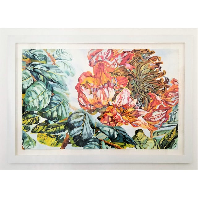 Boho Chic Art Museum Quality Watercolor Painting by Patricia Tobacco Forrester For Sale - Image 3 of 13