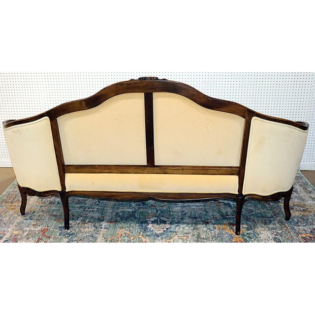 Louis XV Style Carved Walnut Tapestry Sofa For Sale - Image 9 of 13