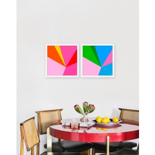 "Medium ""Fractured Bright, Set of 2"" Print by Wendy Concannon , 30"" X 15"" Preview"