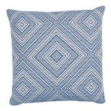 Image of Schumacher Tortola Indoor/Outdoor Pillow in Marine For Sale