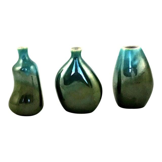 Vintage Organic Jaru Style Bud Vases - Set of 3 For Sale