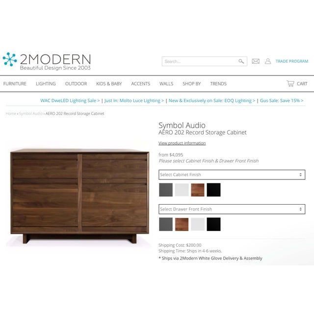 Mid-Century Modern CD Cabinet by Symbol Audio - Image 6 of 11