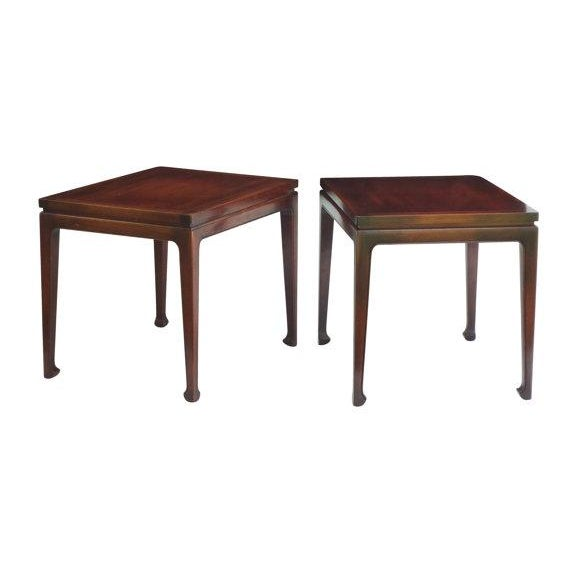 Fine Arts Furniture Walnut End Tables - A Pair For Sale