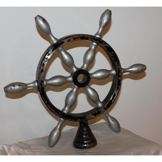 Vintage French Metal Ship Wheels - a Pair Preview