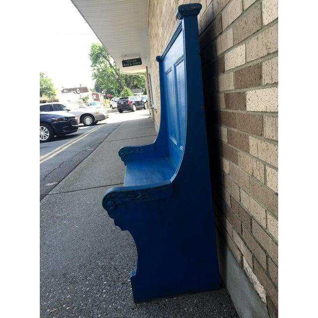 Blue Bohemian Deacon's Bench - Image 6 of 6
