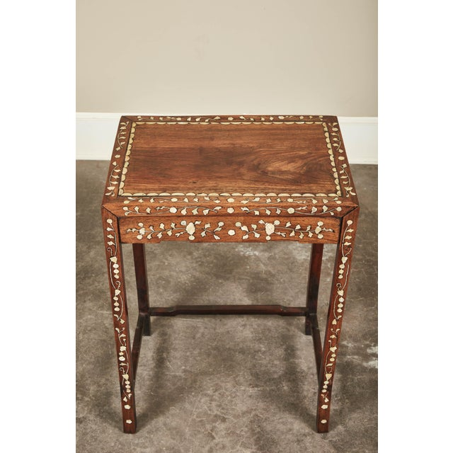 Late 19th Century 19th C. Side Table With Mother-Of-Pearl Inlay For Sale - Image 5 of 8