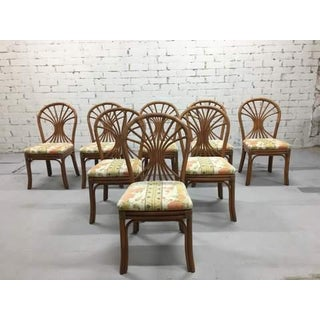Set of 8 1980s Italian Vintage Bamboo Dining Chairs Preview