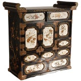 Image of 19th C. Japanese Lacquered Cabinet For Sale