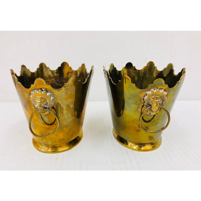 Early 20th Century Pair Vintage Mottahedeh Planters For Sale - Image 5 of 6