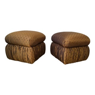 Vladimir Kagan Style Pouf Ottomans - a Pair . For Sale
