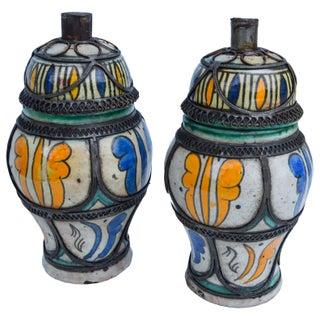 Ornate Arabesque & Filigree Lidded Jars, S/2 Preview