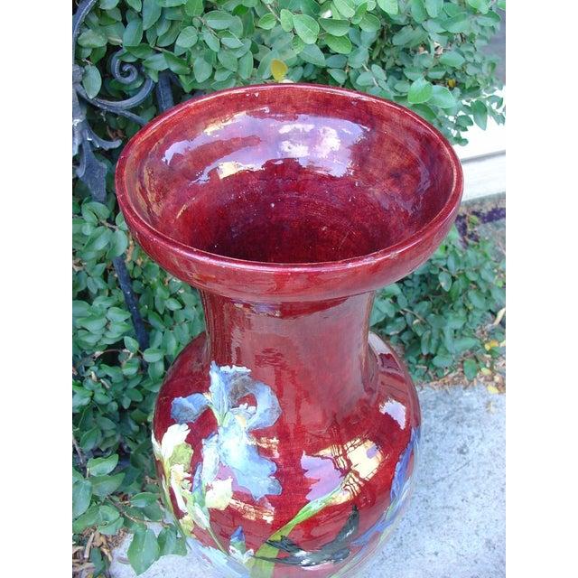 Aesthetic Movement Antique Grande 'Bourg La Reine' Vase For Sale - Image 3 of 9