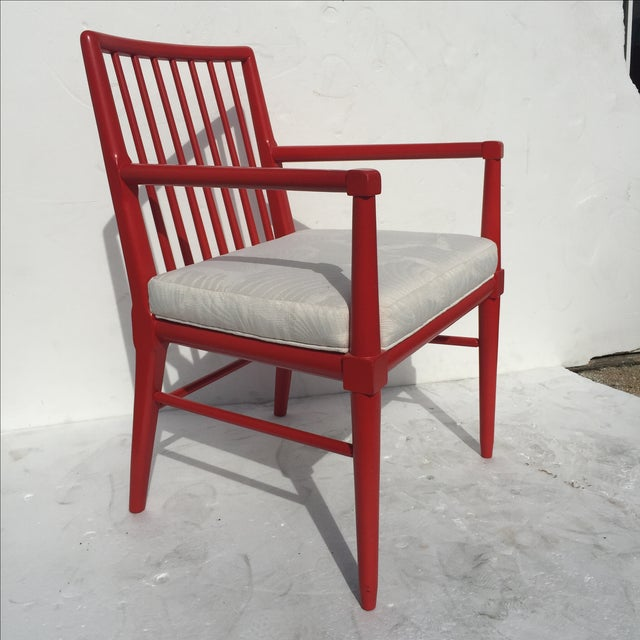 Robsjohn Gibbings Style Armchairs - A Pair For Sale - Image 4 of 8
