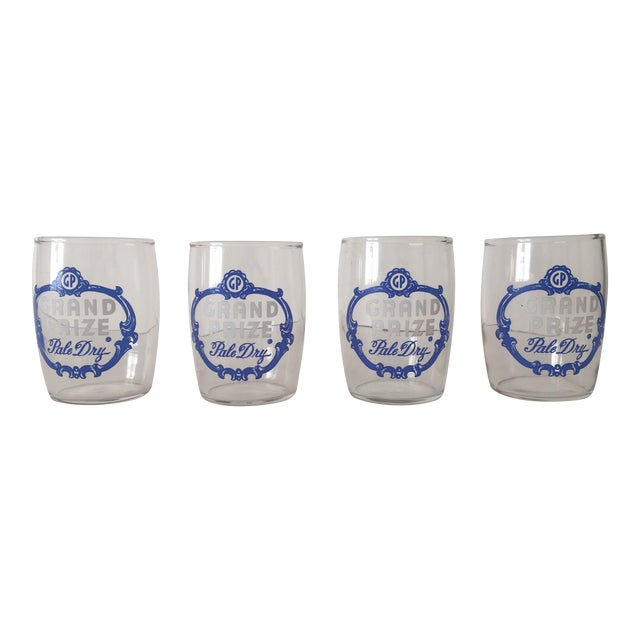 Vintage 1950's Grand Prize Beer Barrel Glasses - 4 - Image 1 of 7