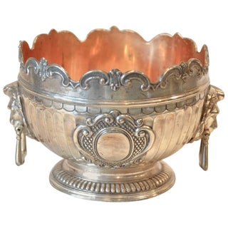 1900s Traditional Silver Plated Decorative Bowl For Sale