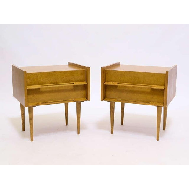 Mid-Century Modern Pair Of Nightstands/ End Tables By Edmond Spence For Sale - Image 3 of 8