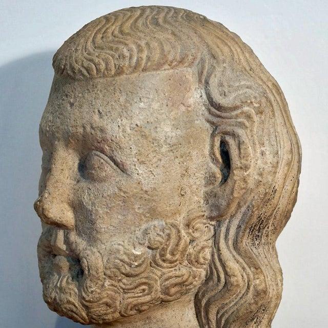 Medieval Limestone Bust - Image 5 of 10