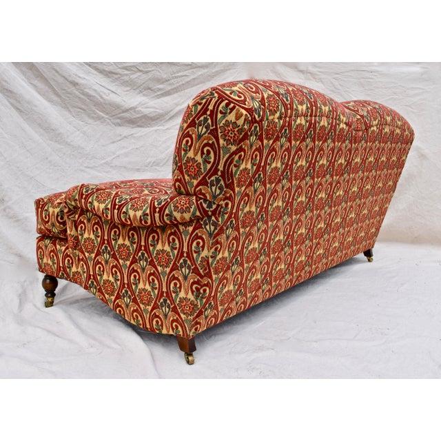 Brunschwig & Fils Brunschwig & Fils English Sherwood Sofa on Casters For Sale - Image 4 of 10