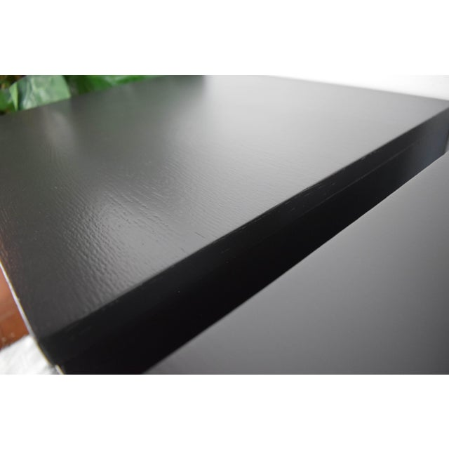 Paint Mid Century Modern Kent Coffey Black Lacquered Side Tables – a Pair For Sale - Image 7 of 13