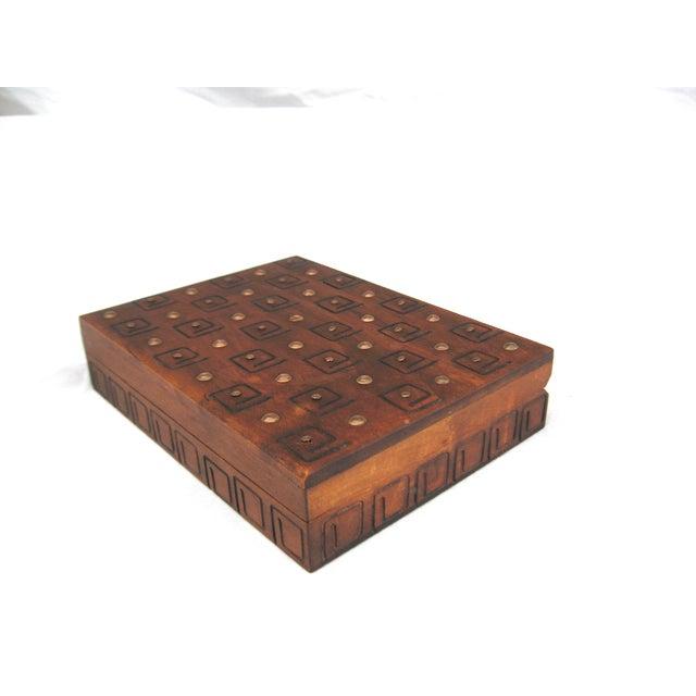 Hand Carved Trinket Box - Image 4 of 6