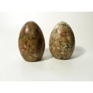 1960s Organic Modern Polished Stone Egg Book Ends - a Pair Preview