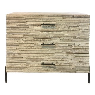 Industrial Modern Reclaimed Wood Pine and Iron Chest of Drawers For Sale