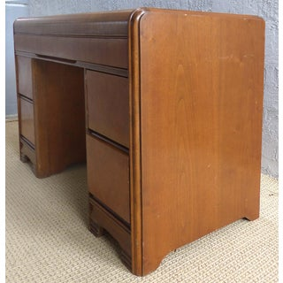 Art Deco Kneehole Desk W/ 5 Drawers Preview