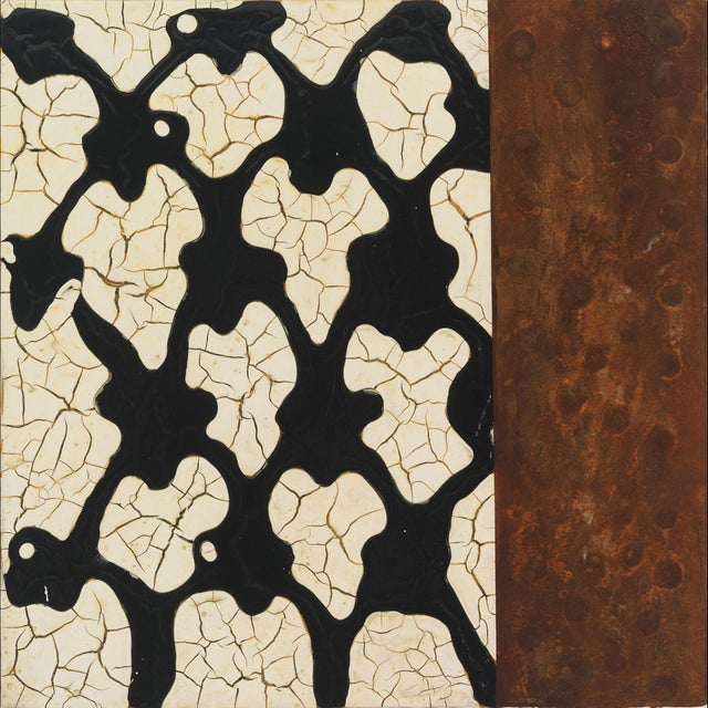 """Abstract Lynn Basa, """"Loosely Patterned After: Black Lattice"""" For Sale - Image 3 of 3"""