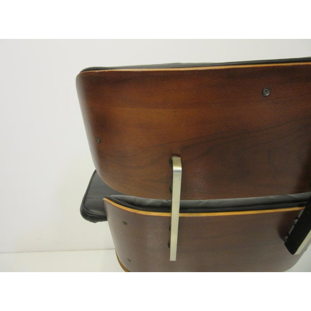 Mid-Century 670 Walnut / Leather Rolling Desk Chair by Selig For Sale In Cincinnati - Image 6 of 11