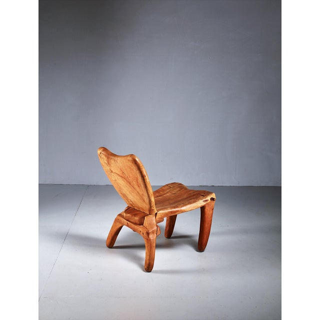 American Don Shoemaker Studio Craft Wooden Chair, Mexico, 1960s For Sale - Image 3 of 8