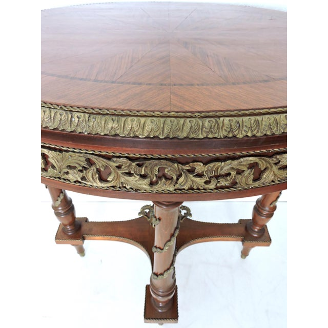Early 20th Century Antique French Louis XV Style Walnut Centre or Occasional Ormolu Table For Sale - Image 5 of 7
