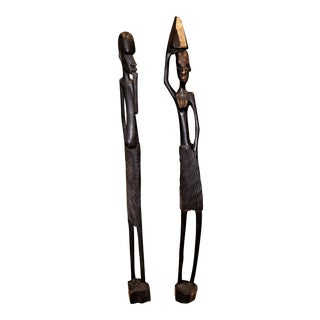 Vintage Congolese Luba Figures - a Pair For Sale