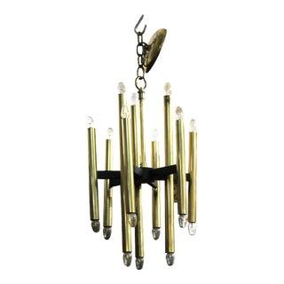 Sciolari Italian Modern Brass Ceiling Pendant Chandelier For Sale