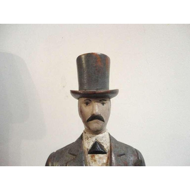 Early 20thc Hand Carved & Painted I.W.Harper Whiskey Man - Image 10 of 10
