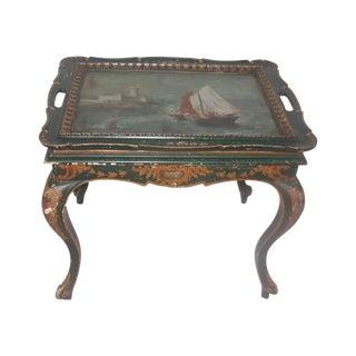 1900's Hd Ptd Nautical Coffee Table