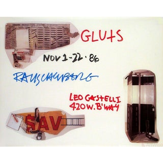 1986 Robert Rauschenberg 'Gluts' Pop Art Brown Usa Offset Lithograph For Sale