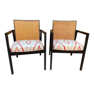 Mid Century Modern Herman Miller Cane-Backed Armchairs - a Pair For Sale
