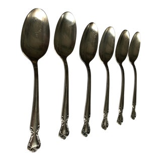 Vintage Rogers & Bro. Reinforced Silver Plated Set of 6 Tea/Dessert Spoons For Sale