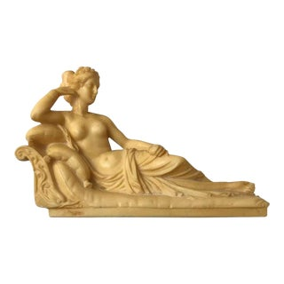 1960s After Pauline Bonaparte as Venus Victrix by Antonio Canova Grand Tour Statuette For Sale