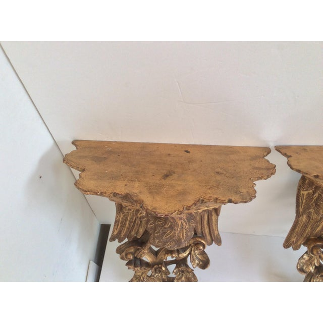 Chippendale Chippendale Style Wood Wall Sconces - a Pair For Sale - Image 3 of 8