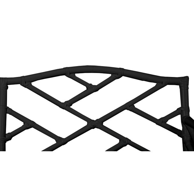 David Francis Chippendale Bench - Black For Sale - Image 4 of 5