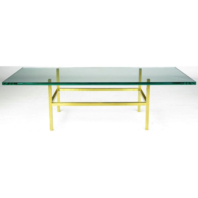 Solid Brass Square Bar Coffee Table After Dunbar - Image 2 of 4