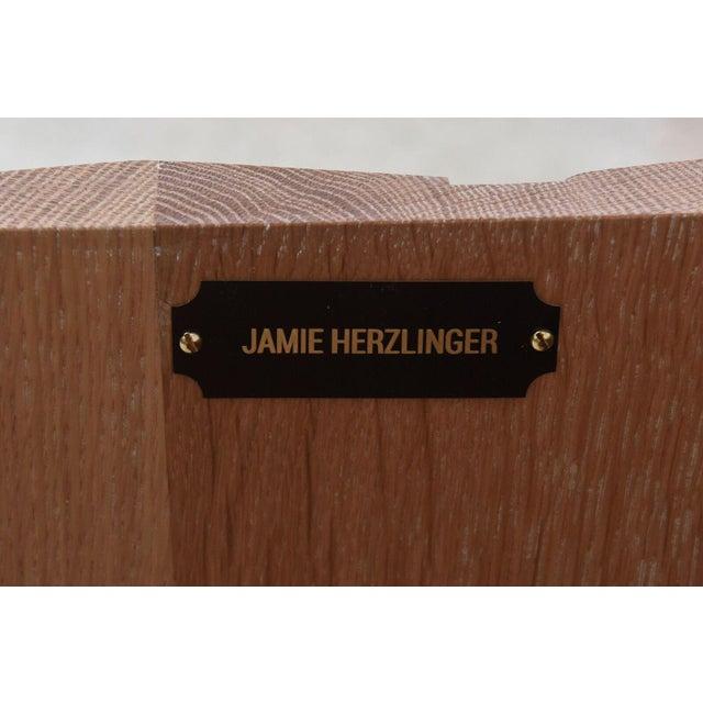 Cerused Oak Four-Door Buffet or Credenza, Jamie Herzlinger For Sale - Image 11 of 11