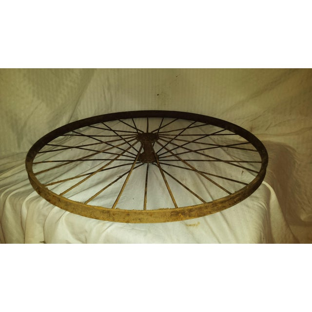 Antique Wire Spoke Bicycle Wheel - Image 5 of 5