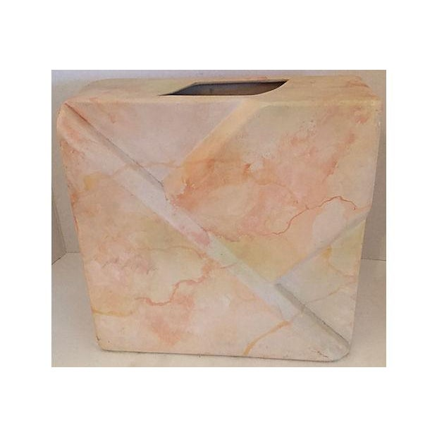 Signed Geometric Relief Vase For Sale In Miami - Image 6 of 7