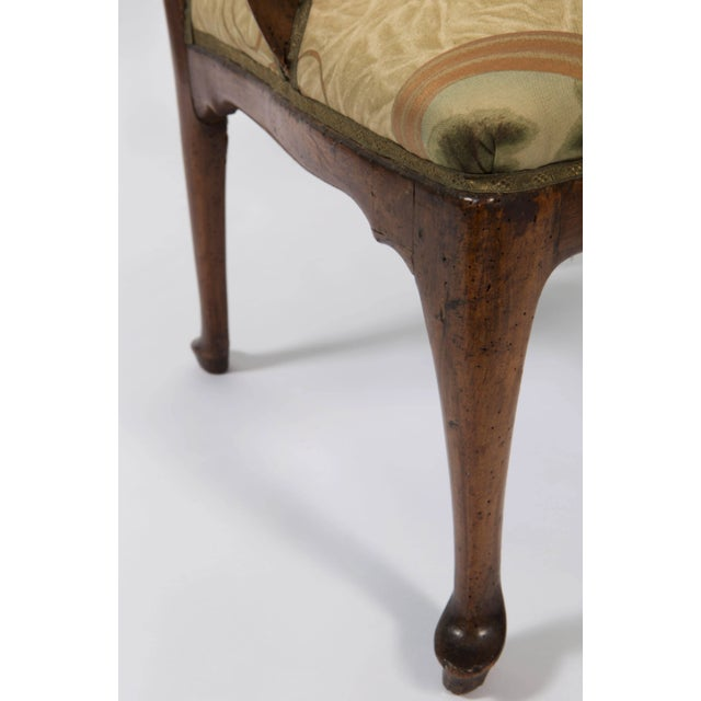 18th Century Vintage Walnut Italian Open Back Armchair For Sale - Image 9 of 13