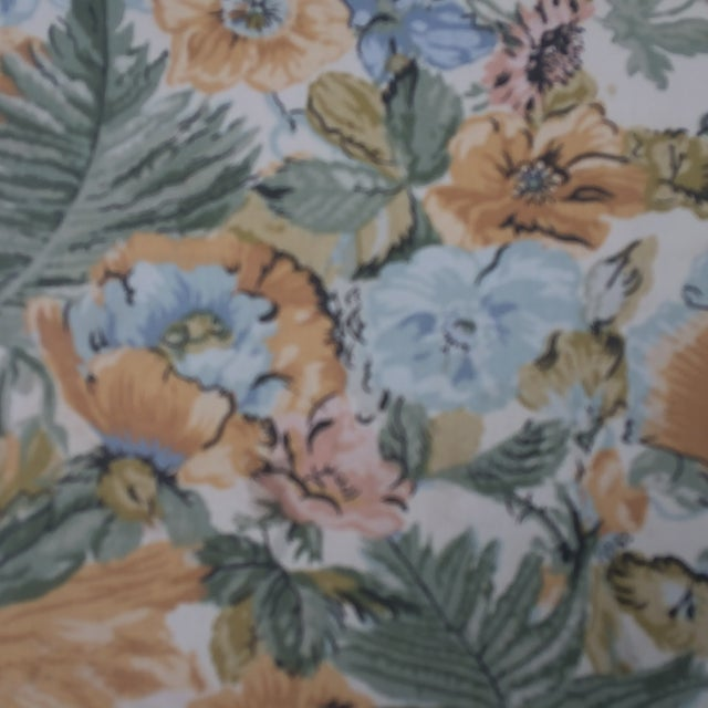 Vintage Winged Slipped Chairs in Floral - Pair - Image 3 of 9