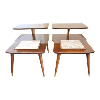 Mid Century Modern Side or End Tables - A Pair